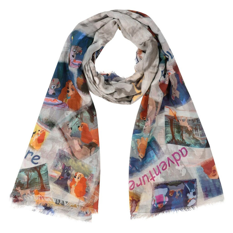 Faliero Sarti x Disney Lady and the Tramp scarf