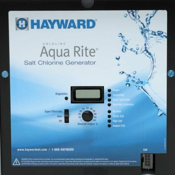 Hayward Aqua Rite Salt Generator & 15K Gal Cell