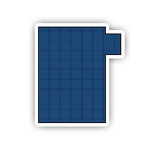 16' x 32' Rectangle with Right 1' Offset, 8' x 4' Step Safety Cover: Platinum Commercial Mesh