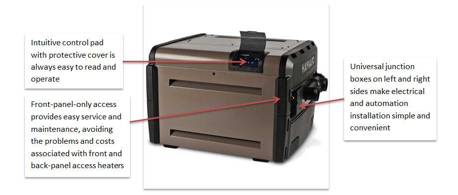 Hayward Universal 150,000 BTU H Series Low NOx Natural Gas Swimming Pool Heater