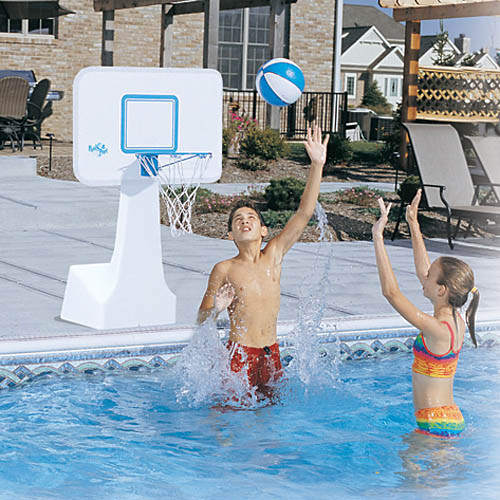 PoolSport Stainless Steel Portable Pool Basketball Game Combo