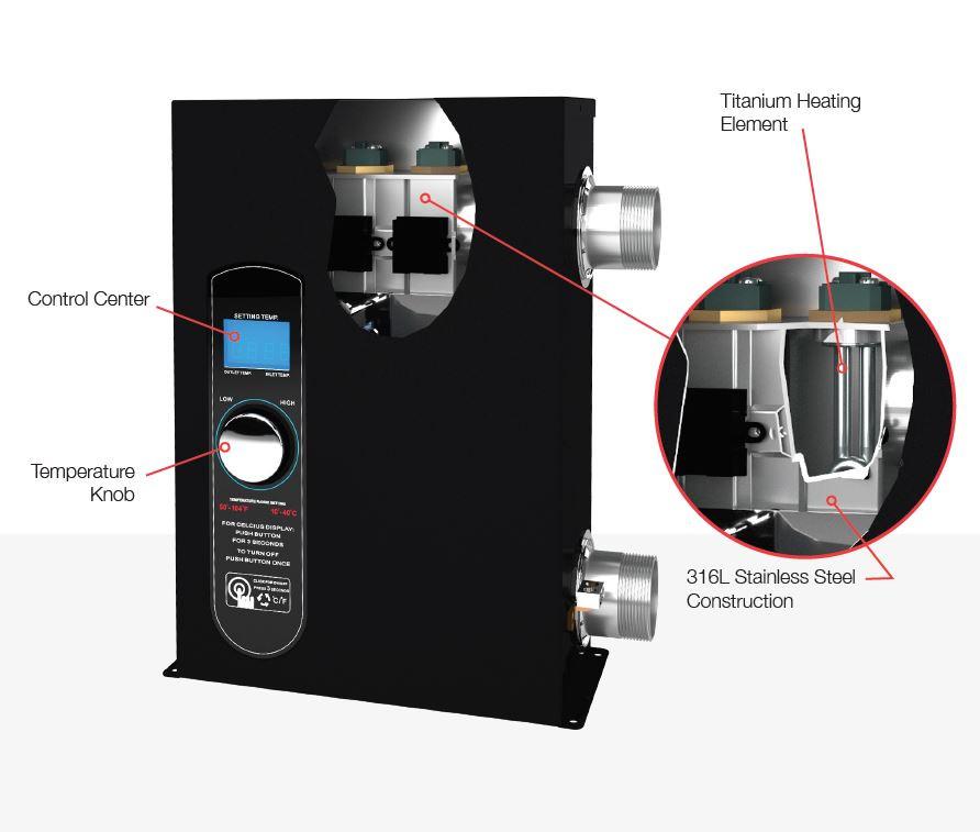Raypak 5.5 KW Digital Pool and Spa Heater