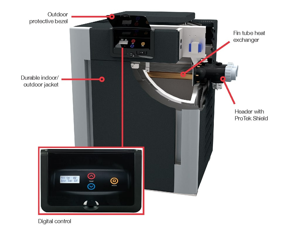 Raypak Digital 336A Electronic 332,500 BTU Propane Heater