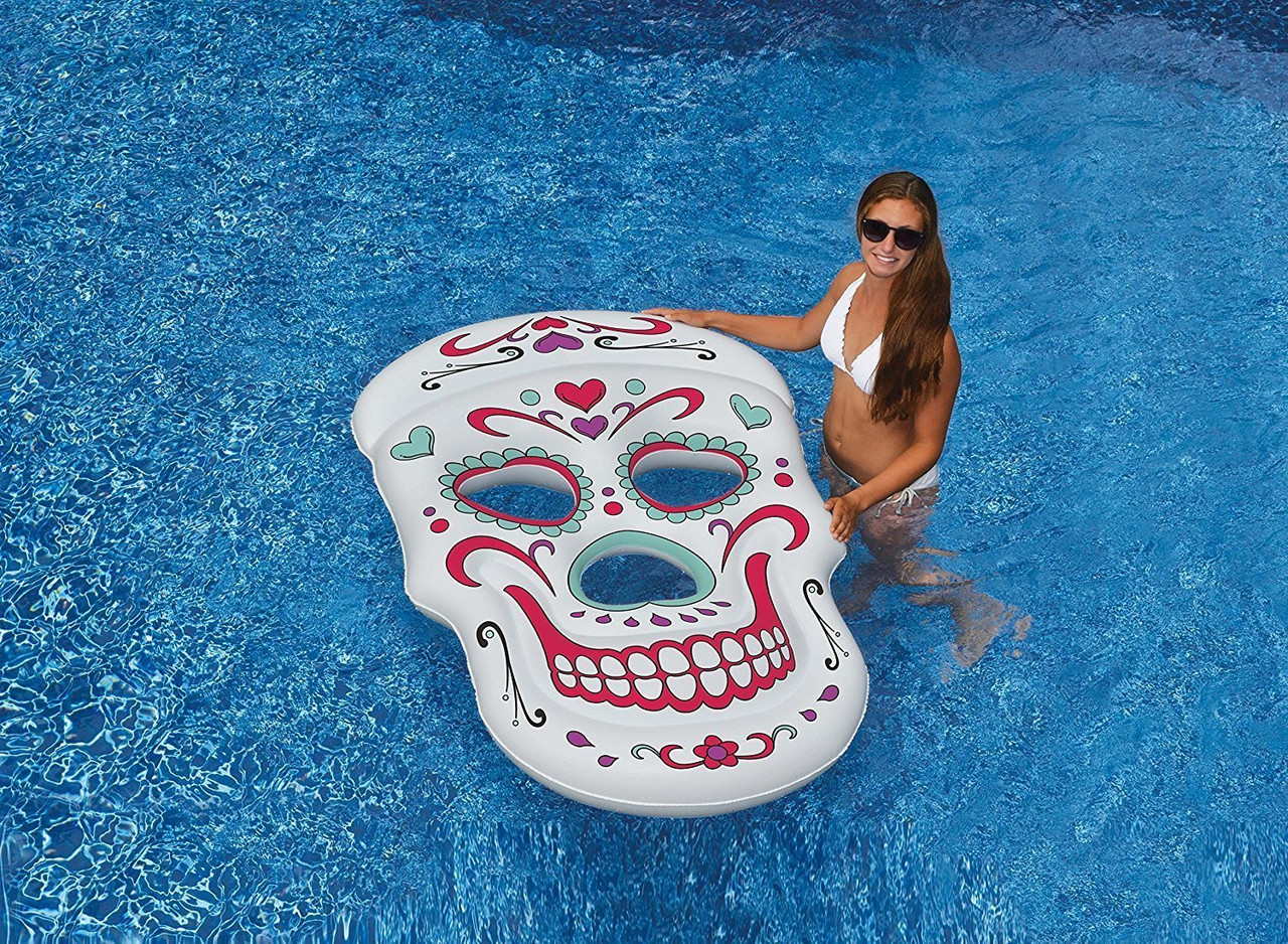 Giant Sugar Skull Pool Float