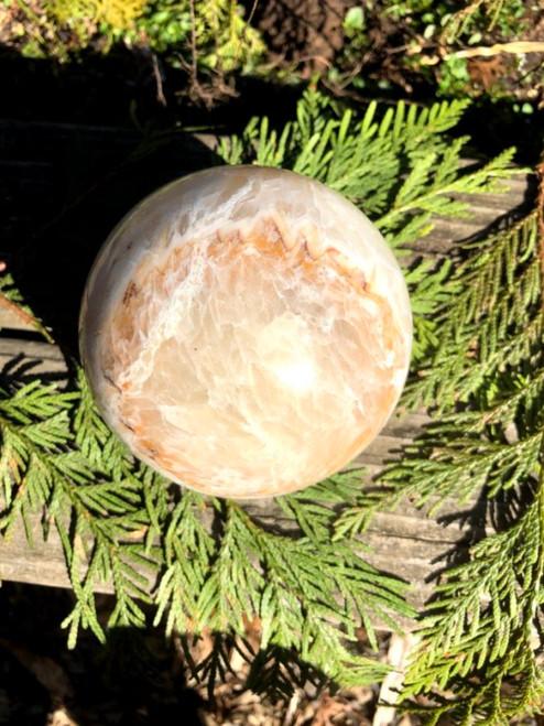 Yellow jade crystal sphere