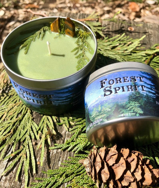 forest spirit candle pagan