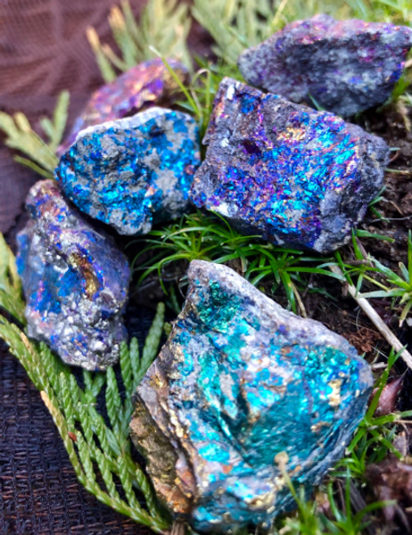 Peacock Chalcopyrite Crystal