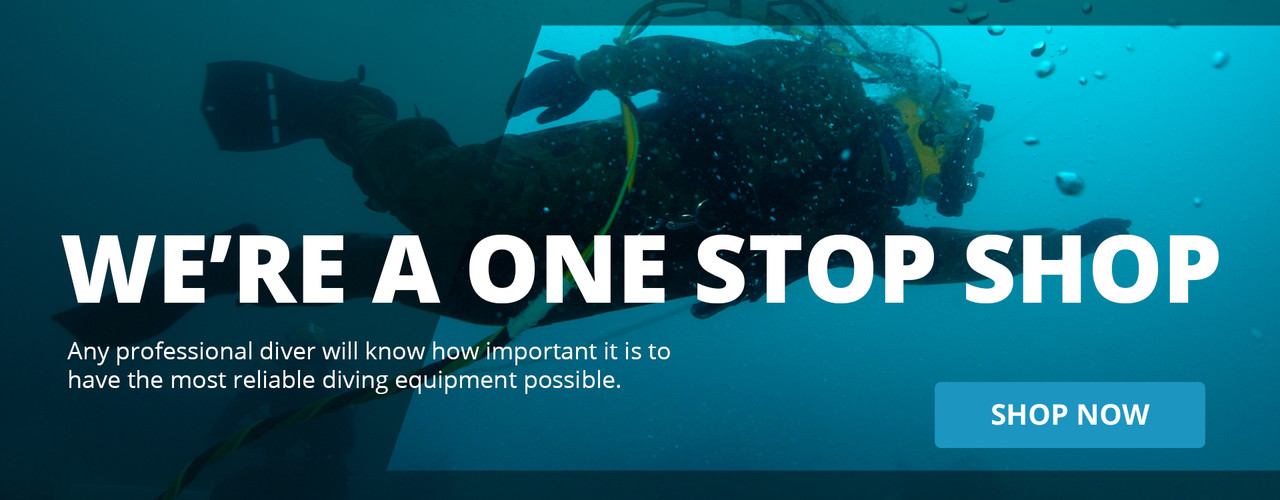 We're a one stop shop. Any professional diver will know how important it is to have the most reliable diving equipment possible. Shop now.