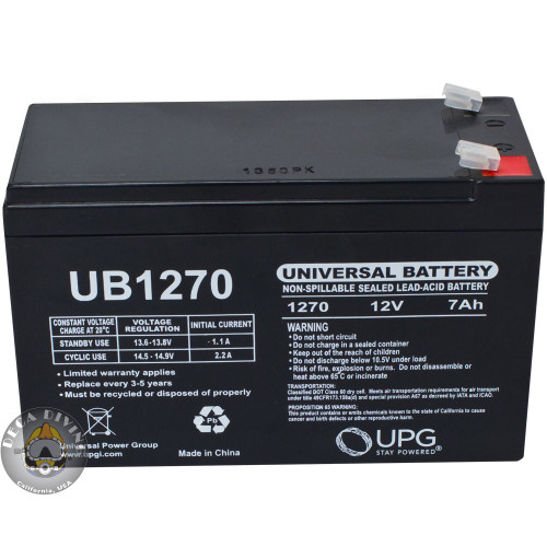 12 VDC Rechargeable Battery