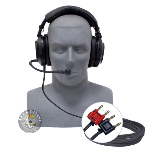 Deluxe Headset w/ Boom Mic and Dual Banana Plugs