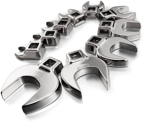 "10 pc Crowfoot Wrench Set, 3/8"" - 1"""