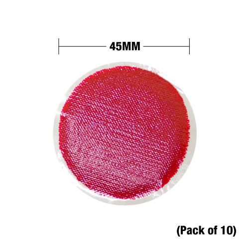 Viking Rubber Patches 45MM - Red (Pack of 10), For Pro / Protech / HD / Haztech Suits