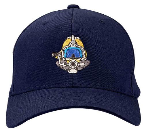 Kirby Morgan FlexFit Hat Front Navy