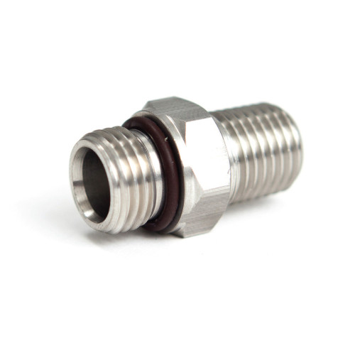 """Adapter, Stainless Steel,  9/16""""-18unf Male to 1/4"""" MPT"""