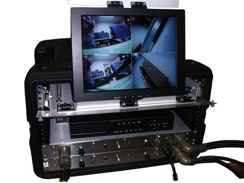 3210/Q, Complete QUAD Portable Color Video System w/LED Light
