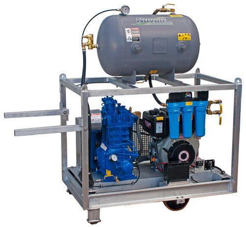 Q-325DYL Quincy Diesel LP Compressor w/Volume Tank and 3-Stage Filtration