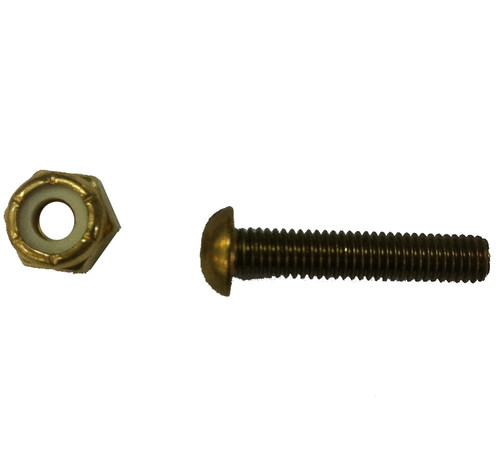 Brass Screw & Lock Nut, BR 22