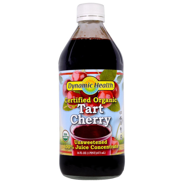 Dynamic Health Organic Juice Concentrate Unsweetened 100% Pure Tart Cherry 16 oz