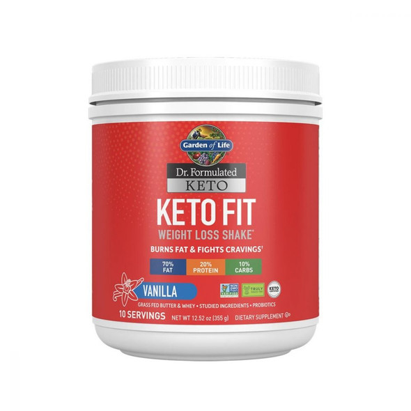 Dr Formulated Keto Fit Vanilla 355g Powder By Garden of Life