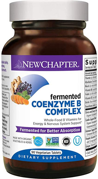 New Chapter Coenzyme B Complex, Fermented 90 Tablets