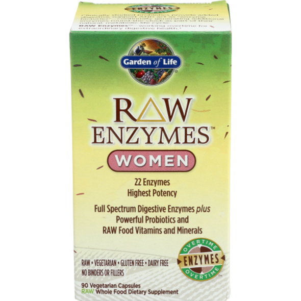 Garden of Life Raw Enzymes Women 90 Capsules