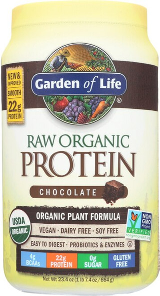 Garden of Life RAW Organic Protein Chocolate (650 grams, 28 servings