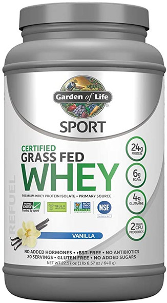 garden of life sport certified grass fed clean whey protein isolate 1b
