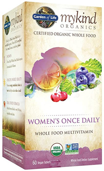 Garden of Life mykind Organics Women's Once Daily Multivitamin, Tablets - 60 count