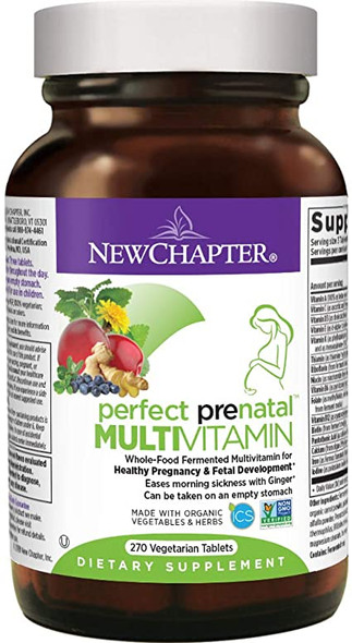 new chapter perfect prenatal multivitamin 270 tablets