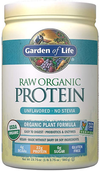 garden of life raw organic protein powder unflavored - no stevia