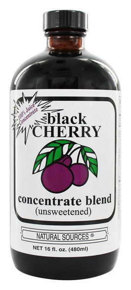 natural sources black cherry concentrate unsweetened, 16 fl oz