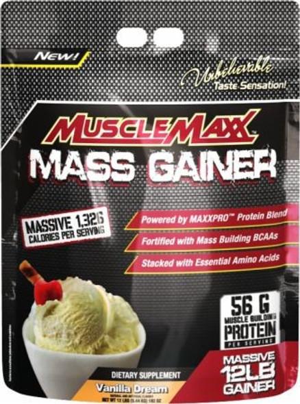 Muscle Maxx Mass Gainer Vanilla Dream 12 lbs, musclemaxx mass gainer