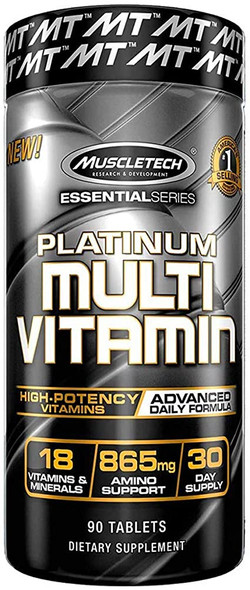 Essential Series, Platinum Multi Vitamin, 90 Tablets by Muscletech