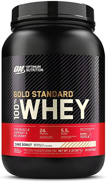 100% Whey Protein - Gold Standard Cake Donut 2 lbs, by Optimum Nutrition