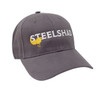 SteelShad Hat - Gray Twill - White Logo/Yellow Lure