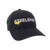 SteelShad Hat - Black Twill - White Logo/Yellow Lure