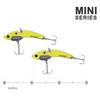 The SteelShad Mini Series - Yellow Shad