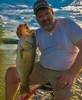 SteelShad Mini Series - Silver - Stephen on Lake Champlain with his large mouth bass!