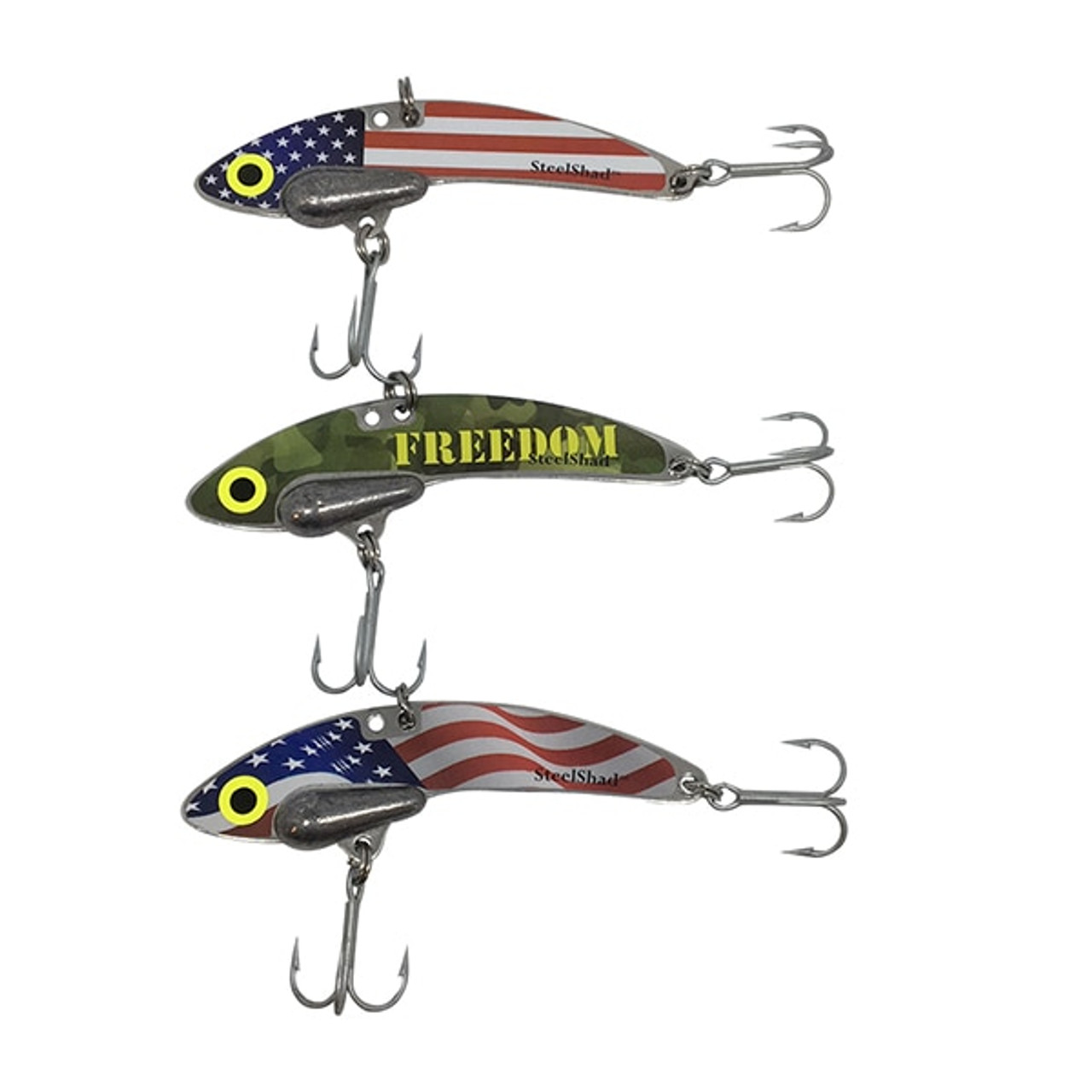 Original SteelShad - 3/8 oz - Patriot 3 Pack