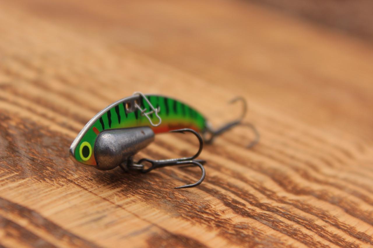 Perch (Firetiger) Heavy Series - 1/2 oz., #8 VMC Black Nickle Hooks, and Line Clip