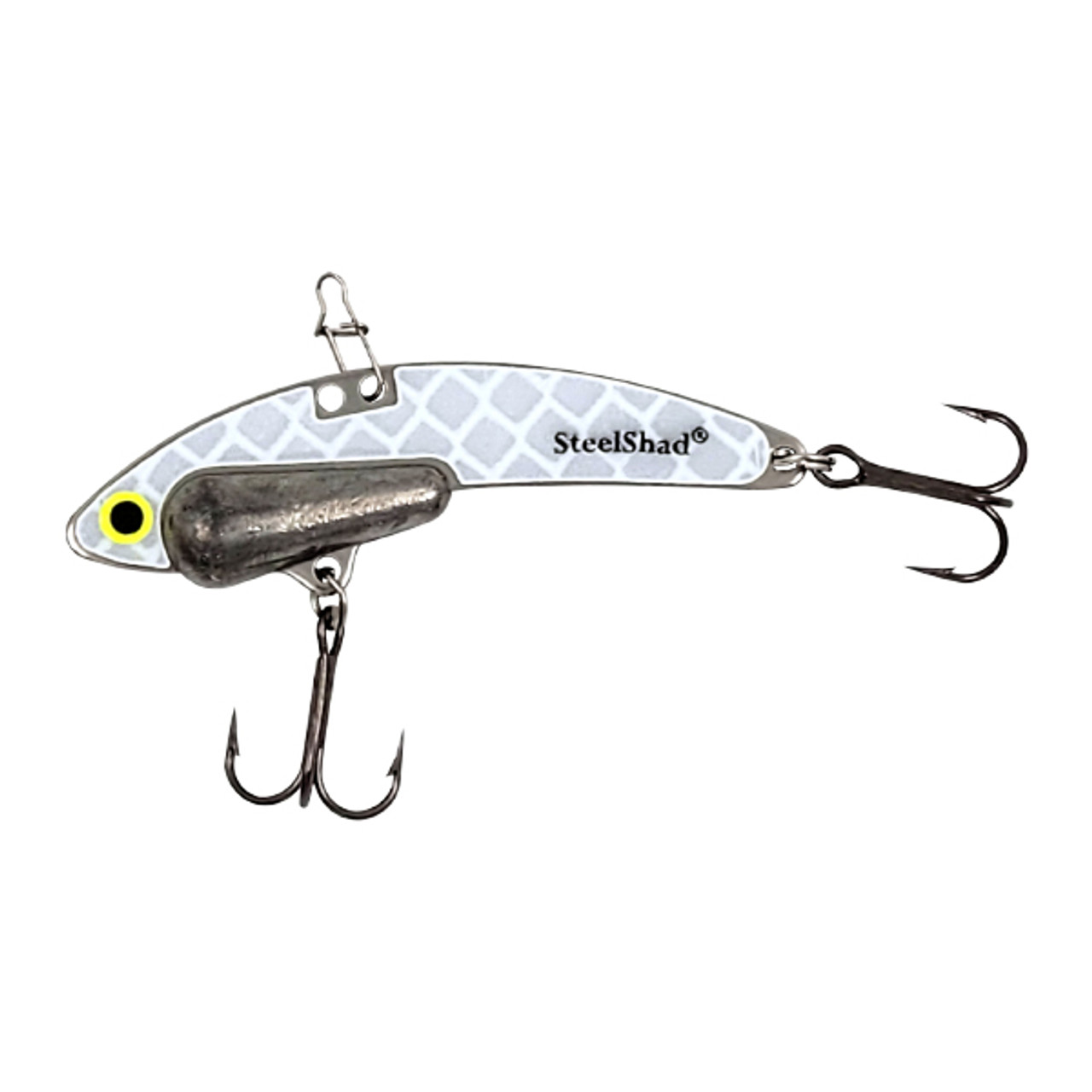 SteelShad Heavy - 1/2 oz - Glow Silver