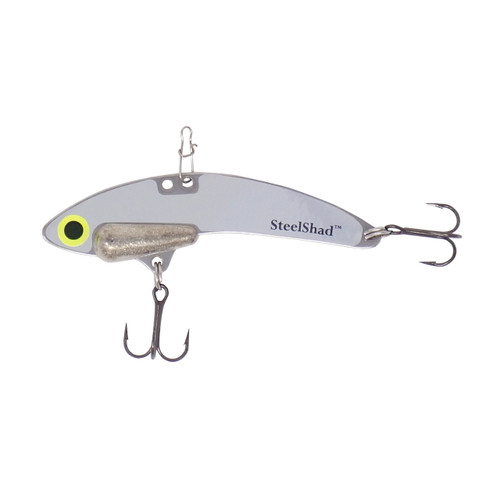 SteelShad Elite Series - 3/8 oz. - Silver - Tin Weight, Line Clip, #6 Black Nickle Hooks