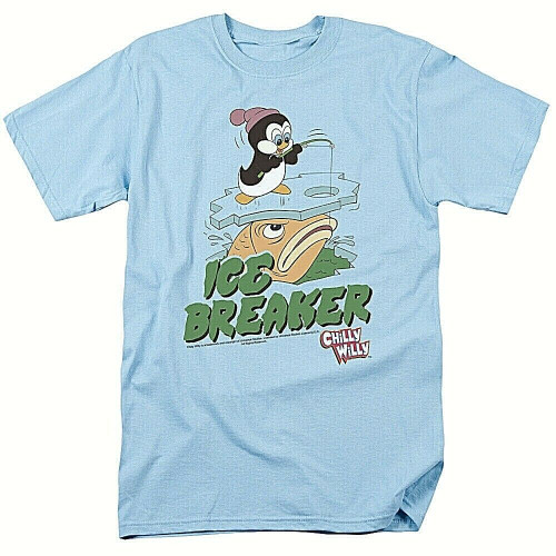 "Chilly Willie in Ice Breaker ""Harvey Comics"" Mens T-shirt -Available Sm to 2x 100% Cotton High Quality Pre Shrunk Machine Washable T Shirt"