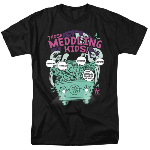 "Scooby-Doo ""Those Meddling Kids"" Mens Unisex T-shirt -Available Sm to 3x 100% Cotton High Quality Pre Shrunk Machine Washable T Shirt"
