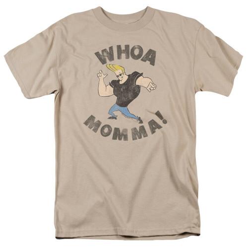 "Johnny Bravo ""WHOA MOMMA"" Mens Unisex T-shirt -Available Sm to 2x 100% Cotton High Quality Pre Shrunk Machine Washable T Shirt"