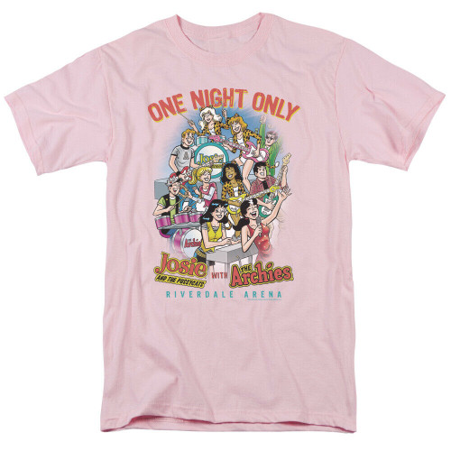 "Josie and the Pussycats & The Archies ""1 Night Only"" Mens T-Shirt, sm to 3x 100% Cotton High Quality Pre Shrunk Machine Washable T Shirt"