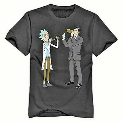 Rick and Archer Drinking Game Mens Unisex T-shirt -available in sm to xL 100% Cotton High Quality Pre Shrunk Machine Washable T Shirt