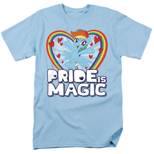 "My Little Pony ""Rainbow Dash"" Pride and Magic Mens T-Shirt, Available Sm to 3x 100% Cotton High Quality Pre Shrunk Machine Washable T Shirt"