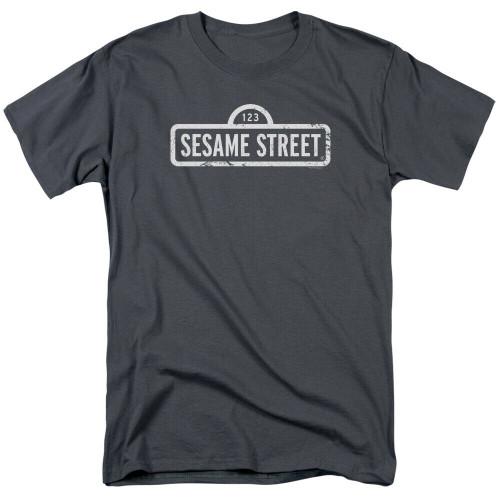 "Sesame Street Logo ""Jim Henson"" Mens Unisex T-Shirt -Available sm to 4x 100% Cotton High Quality Pre Shrunk Machine Washable T Shirt"