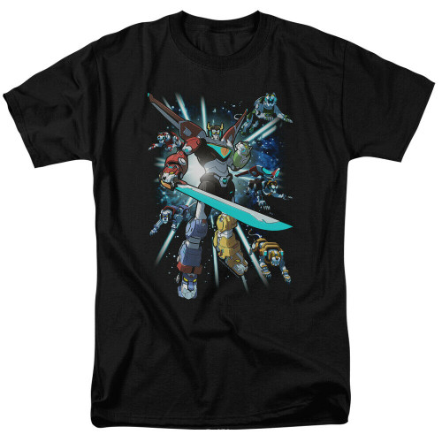 "Voltron Legendary Defenders ""Lion's Share"" Mens Adult Unisex T-Shirt -Sm to xL 100% Cotton High Quality Pre Shrunk Machine Washable T Shirt"